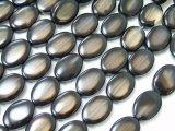 バイカラーメノー・ブラック&ホワイトオーバル14個20cm