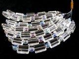 水晶2面チューブ&レインボーオーラ水晶6mmセット