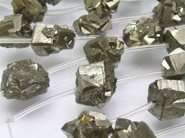 画像2: パイライト10〜12mm原石ラフビーズ小5個セット