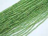 淡水パール1.5〜2mmポテトビーズ、ペリドットグリーン